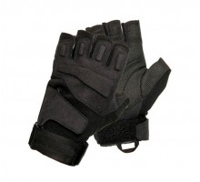 Тактичні рукавиці Impact Half-Finger Black (безпалі)