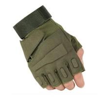 Тактичні рукавиці Impact Half-Finger Khaki (безпалі)