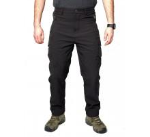 Тактичні штани Esdy Soft Shell Shark Skin Black (утеплені)