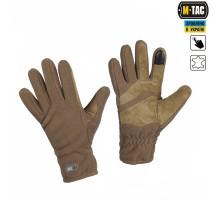 Тактичні рукавиці M-Tac Winter Tactical Windblock 380 Coyote