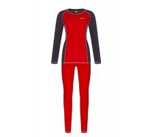 Жіноча термобілизна Baft X-Line Women Red/Grey XL220 (мікрофліс)