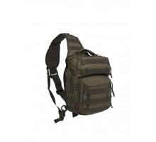 Тактичний однолямковий рюкзак Mil-Tec OD One Strap Assault Pack Small (10л, оригінал)